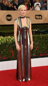 Michelle Williams in Louis Vuitton. CNN Entertainment Online: Jordan Strauss/Invision/AP