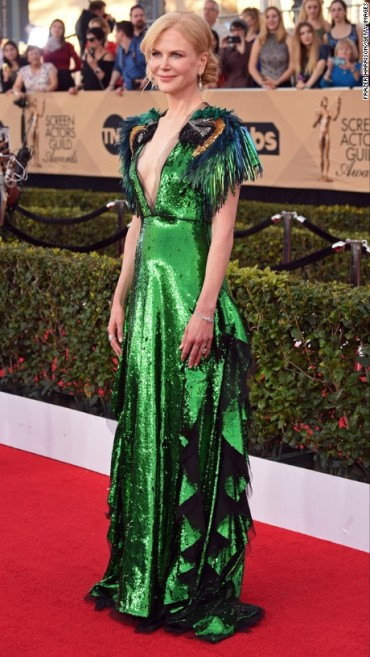 Nicole Kidman in Gucci. CNN Entertainment Online: Frazer Harrison/Getty Images