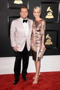 James Corden and Julia Carey. Grammys 2017. Image source: Vogue Australia