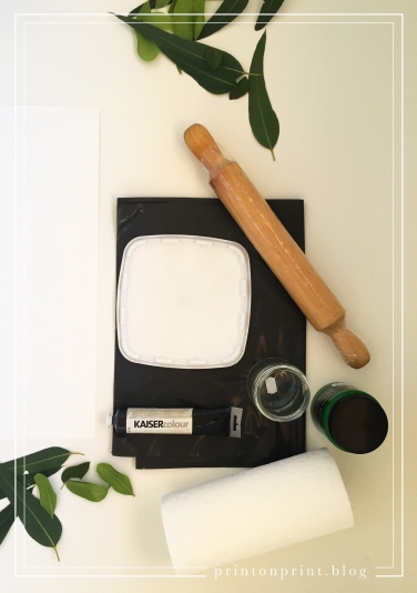 How to: Leaf Printing. Equipment.