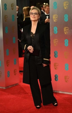 Meryl Streep in Givenchy. BAFTAs 2017 Best Dressed. Image source: Vogue Australia.