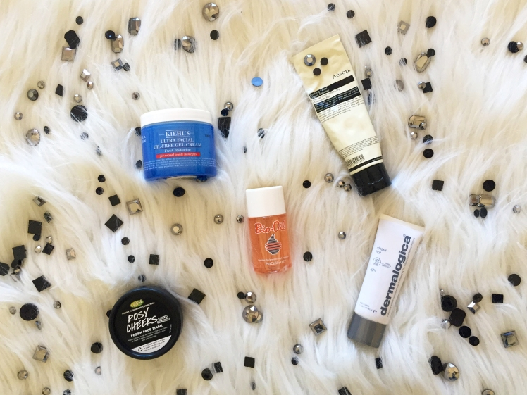 friday five flatlay_skincare essentials